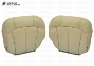 2000 2001 2002 Chevy Tahoe Suburban Driver And Passenger Bottom Seat Cover Tan