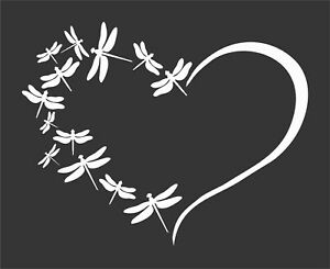 Dragonfly Heart Family Dragonflies Vinyl Window Decal sticker For Car truck
