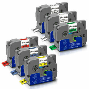 5pk Label Tapes Tze151 tze751 Compatible Brother P touch Printer 24mm Pt 9800pcn