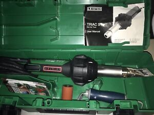 Leister Triac St Hot Air Tool W one Tip Hand Pressure Roller Lightly Used