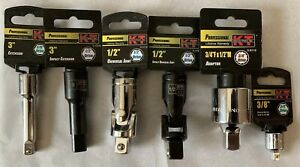 Socket Adapter Extension And Universal Joints Kt Industries