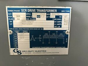 300 Kva 3 P Transformer 480d 416y 240 Copper Windings