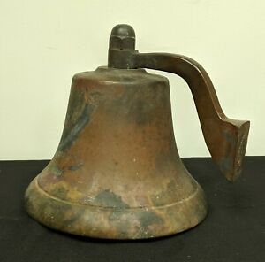 Antique Bronze Bell 10 Across Over 20 Pounds Ship Railroad Brass