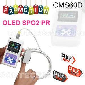Contec Cms60d Handheld Pulse Oximeter Oled Usb Pc Software Fda Ce
