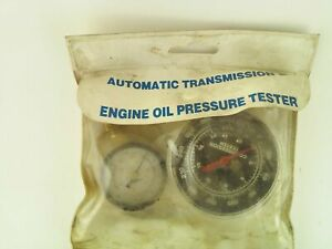 Automatic Transmission And Engine Oil Pressure Tester With Two Gages