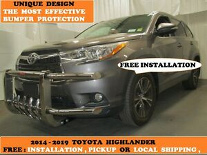 2014 2019 Toyota Highlander S s Unique And Fully Front Bumper Guard Protector
