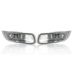 Pair For Toyota Corolla 2003 2004 Clear Lens Front Driving Bumper Fog Light Lamp