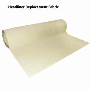 Beige Foam Backed Cloth Headlining Fabric For Costumes And Crafting 60 X60 Inch