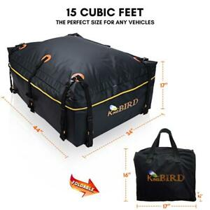 15 Cubic Roof Bag 100 Waterproof Car Top Cargo Carrier Bag Fits Any Car Or Suv