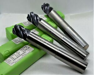 Helical Lot 3 Carbide 3 4 X 3 4 X 1 X 5 1 4 5fl R 250 End Mill Aplus Coated