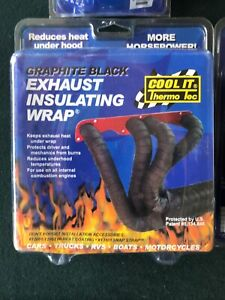 Thermo Tec Cool It 11022 Graphite Black Exhaust Header Turbo Wrap 2 x50