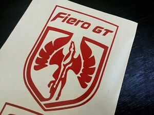 Pontiac Fiero Fiero Gt 2x Decals New Fits All Models Many Colors To Choose