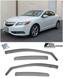 For 13 19 Acura Ilx Jdm In channel Smoke Tinted Side Window Visor Rain Deflector