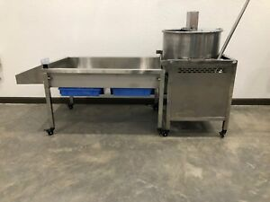 Kettle Corn Popcorn Popper 80 Qt With Double Tray Large Sift Table New