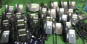 Huge Lot Of 25 Polygon Soundpoint Ip 330 Sip And Ip 550 Business Phones