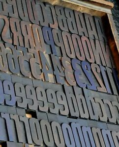 Letterpress Alphabet 171pcs 3 54 Wood Printing Blocks Letterpress Wooden Type