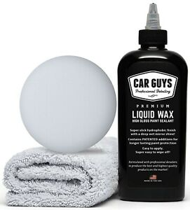 Carguys Liquid Wax The Ultimate Car Wax Shine With Polymer Paint Sealant 8oz Kit