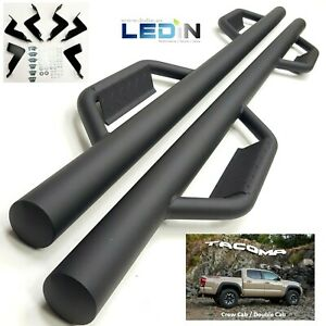 Side Step Nerf Bar For 2005 2018 Toyota Tacoma Crew Cab Drop Step Texture Black