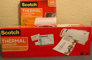 Scotch Tl902 Thermal Laminator Machine With Laminating Pouches