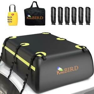 20 Cubic Roof Bag 100 Waterproof Car Top Cargo Carrier Bag Fits Any Car Or Suv