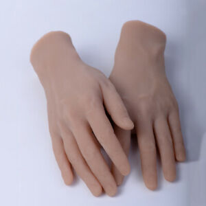 1 Pair Realistic Mannequin Fake Hands Jewelry Bangle Watch Display Manikin