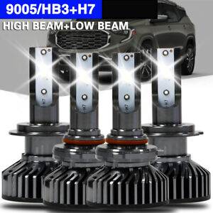 4x Cree 9005 H7 Led Headlight Bulbs Conversion Kit For Mazda Protege 5 2003 2002