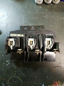 Ite Pushmatic Circuit Breaker 3 Pole 20a P4320