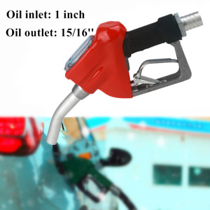 Fuel Gasoline Diesel Petrol Gas Oil Delivery Gun Nozzle Dispenser W flow Meter