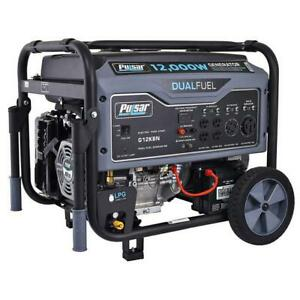 Pulsar 12000 Watt Portable Dual Fuel Propane gas Generator Electric Start G12kbn