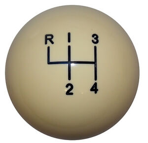 Vintage Ivory 4 Speed Like Hurst Shift Knob 3 8 16 Thd U S Made
