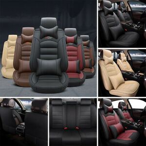 Us Car Auto Pu Leather Seat Covers Cushion Front Rear For Honda Accord Civic Crv