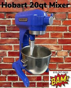 Blue Hobart 20 Quart Mixer With Whip And Ss Bowl 120v Other Colors Available