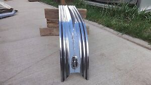 1953 Pontiac Trunk Lid Center Stainless Strip W 8 Emblem Original Gm