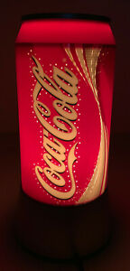 Coca Cola Can Lamp Rotating Sparkling Spin Motion Light Electric Red Plastic 12