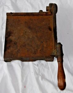 Rare 19 C Antique R Hoe Co Trimming Board Photo Paper Cutter Cast Iron