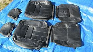 91 95 Volvo 940 Oem Black Left Right Sides Leather Seat Covers Set Of 6 Rare