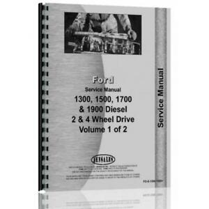 Tractor Service Manual Fo s 1300 1500 For Ford 1300 1500 1700 1900