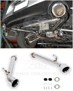 For 17 up Infiniti Q60 Muffler Delete Axle Back Double Wall Dual Tips Exhaust