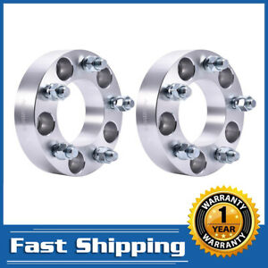 2pcs 1 5 5x5 To 5x5 Wheel Spacers Adapters 14x1 5 For Chevrolet C1500 Gmc Jeep