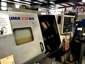 Doosan daewoo Puma 230ms Cnc Lathe 2001 Live Tooling Sub Spindle Video C A