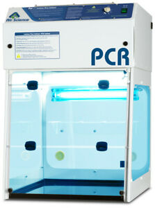Pcr Workstation 24 Wide Clean Bench Laminar Flow Brand New Pcr 24