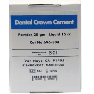 Permanent Cement For Crown Tooth Dental Teeth Material Kit Self Shade Caps Bands