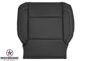 2017 Chevy Tahoe Suburban Premier Ac driver Side Bottom Leather Seat Cover Black