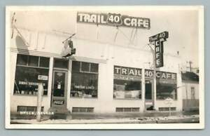 Route 40 Trail Cafe WELLS Nevada RPPC-Sized Photo Vintage~Coca Cola 1940s
