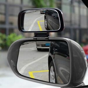 1 Rear View Auxiliary Car Blind Spot Mirror Adjustable Rotation Wide Angle Lens