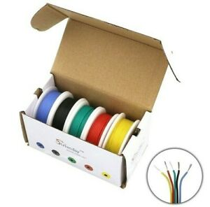 Flexible Silicone Wire Electrical Cable 5 Mixing Color Copper Rubber Tinned Diy
