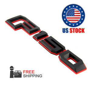 For 15 18 Ford F 150 Rear Tailgate Emblem Nameplate Red Black Gl3z 9942528 A