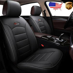 Us 2pc Car Front Pu Leather Seat Covers Cushion Set For Vw Golf Jetta Passat