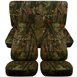 Designcovers Seat Covers Front Rear Fit 87 95 Wrangler Camo 100