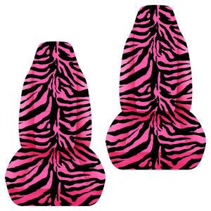 Designcovers Animal Print Front Set To Fit 87 02 Wrangler Pink Zebra